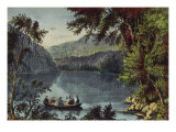 Echo Lake White Mountains Premium Giclee Print by  Currier & Ives