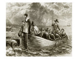 Landing of the Pilgrims at Plymouth Rock, 1620 Giclee Print