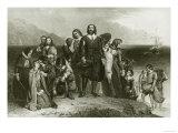 First Landing of the Pilgrims, 1620 Giclee Print