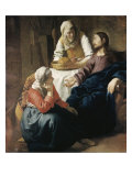 Jeesus Martan ja Marian talossa Giclee-vedos tekijänä Jan Vermeer