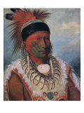 White Cloud, Chief of the Iowas Giclee Print by George Catlin