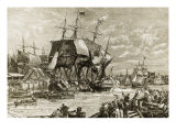 Boston Tea Party, December 16, 1773 Giclee Print