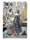Customs of the Year: New Year's, Two Women Giclee Print by Toyokuni