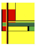 Yellow Rectangles Giclee Print by Diana Ong