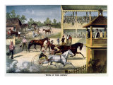 Bring Up Your Horses Giclee Print by  Currier & Ives