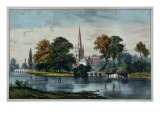 Stratford on Avon Giclee Print by  Currier & Ives