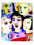 Watercolored Ladies Giclee Print by Diana Ong