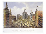 Broadway New York Premium Giclee Print by  Currier & Ives