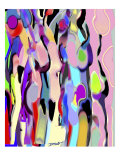 Abstract Female Forms Giclee Print by Diana Ong