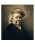 Self Portrait Giclee Print by  Rembrandt van Rijn