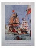 Armada Illustration Giclee Print by Charles Dixon