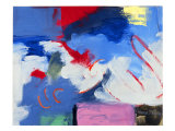 Abstract, Red, Blue Giclee Print by Patricia Brown