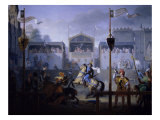A Fourteenth Century Tournament Giclee Print by Pierre Henri Revoil