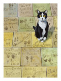 Cat in Hollywood (Chat a Hollywood) Giclee Print by Isy Ochoa