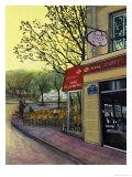 Le Cafe de la Mairie Giclee Print by Isy Ochoa