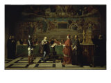 Galileo Before the Inquisition, 1632 Giclee Print by Joseph-Nicolas Robert-Fleury