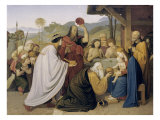 Adoration of the Magi Giclee Print by Friedrich Overbeck