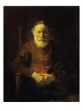 An Old Man in Red Giclee Print by  Rembrandt van Rijn