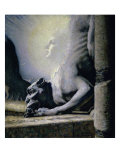 Le Sphinx et Le Chimere Giclee Print by Louis Welden Hawkins