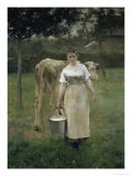 Manda Lametrie, the Farmer&#39;s Wife Giclee Print by Alfred Roll