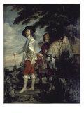 Charles I, King of England, at the Hunt Giclée-Druck von Sir Anthony Van Dyck