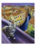 Cat of Venice (Chat de Venise) Giclee Print by Isy Ochoa