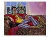 Cat on Man or Jealous of Estremadure Giclee Print by Isy Ochoa