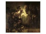 Saint Peter Denying Christ Giclée-tryk af  Rembrandt van Rijn