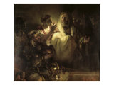 Saint Peter Denying Christ Giclee Print by  Rembrandt van Rijn