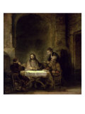 Supper at Emmaus Premium Giclee Print by  Rembrandt van Rijn