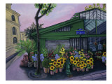 Flower Stand (Le Quai Aux Fleurs) Giclee Print by Isy Ochoa
