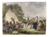 Indians in Council Giclee Print by Seth Eastman