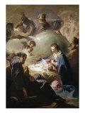 Jesu fødsel Giclée-tryk af Giovanni Battista Pittoni