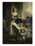 Queen Victoria and Her Children Giclee Print by John Callcott Horsley