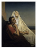 Saint Augustine and Saint Monica Giclee Print by Ary Scheffer
