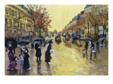 Les Grands Boulevards (After Jean Beraud) Giclee Print by Isy Ochoa