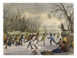 Ball Play on the Ice Giclee Print by Seth Eastman
