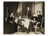 Abraham Lincoln's Family Giclee Print by Francis Bicknell Carpenter