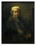Self Portrait in Front of an Easel Giclee Print by  Rembrandt van Rijn
