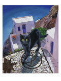 Cat of Greece (Chat de Grece) Giclee Print by Isy Ochoa