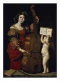 Saint Cecilia Giclee Print by Domenichino