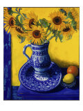 Sunflowers, Lemon, and Orange Giclee Print by Isy Ochoa