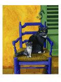 Cats of Provence (Chats de Provence) Giclee Print by Isy Ochoa