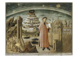 Dante and His Poem Giclee Print by Domenico Di Michelino