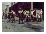 The Ironworkers&#39; Noontime Reproduction proc&#233;d&#233; gicl&#233;e par Thomas Pollock Anshutz