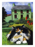 Persian Cat in Ireland (Chat Persan En Irland) Giclee Print by Isy Ochoa