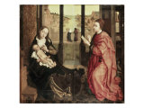 Saint Luke Drawing the Madonna Giclee Print by Rogier van der Weyden