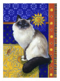 Burmese Cat, Series I Giclee Print by Isy Ochoa
