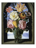 Bouquet of Flowers in an Arch Lámina giclée por Ambrosius Bosschaert the Elder
