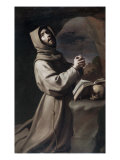 Saint Francis Praying Giclee Print by Francisco de Zurbar&#225;n